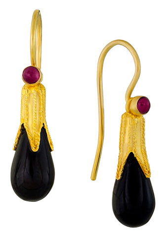 Jane Eyre's Onyx Teardrop Earrings