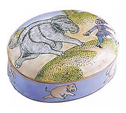 Cavorting Elephant Box