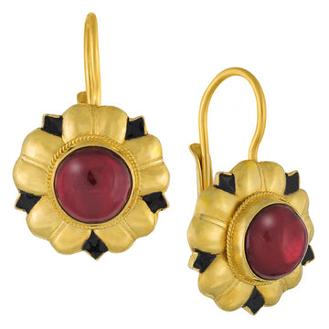 Venetian Garnet Earrings