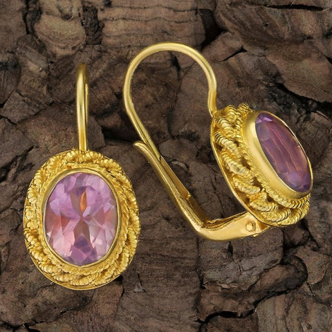 Hermione Highcastle Amethyst Earrings