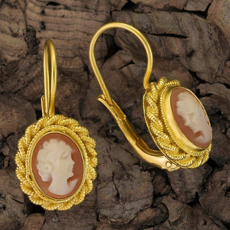 Hermione Highcastle Cameo Earrings