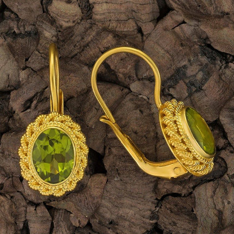 Hermione Highcastle Peridot Earrings