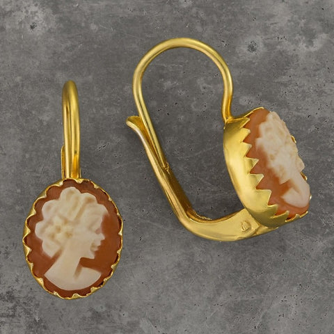 Oxford Cameo Earrings