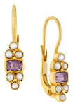 Royal Pavilion Amethyst and Pearl Earrings