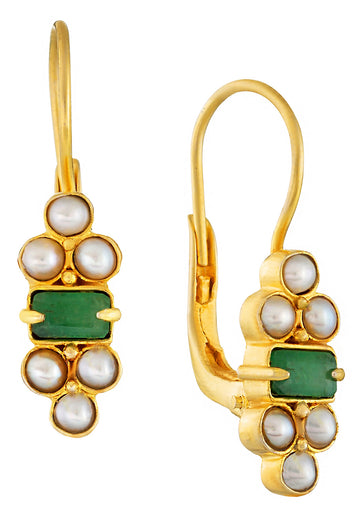 Royal Pavilion Emerald Earrings