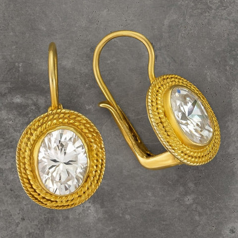 Lady Jane Grey Cubic Zirconia Earrings