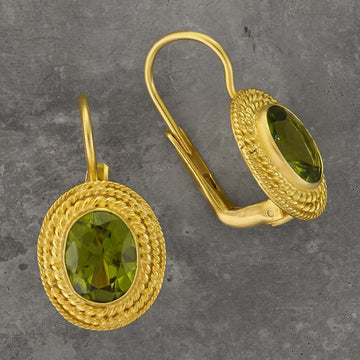Lady Jane Grey Peridot Earrings