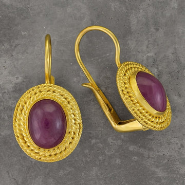 Lady Jane Grey Ruby Earrings