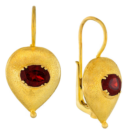 Evelina Garnet Earrings