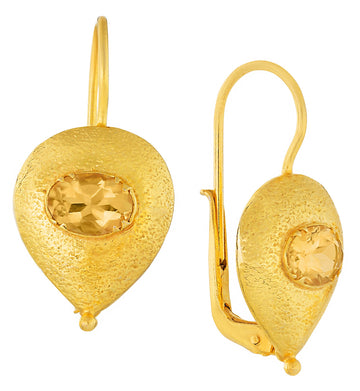 Evelina Citrine Earrings