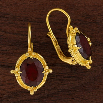 Aurelian Garnet Earrings