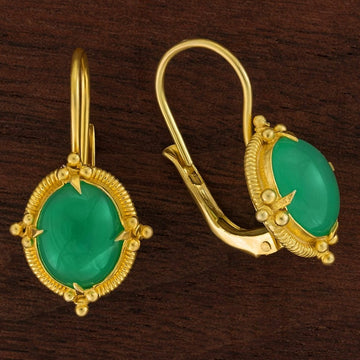 Narcissus Chrysoprase Earrings
