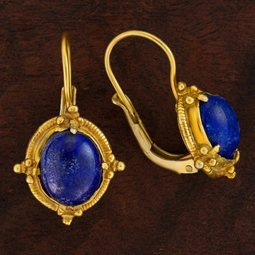 Narcissus Lapis Lazuil Earrings