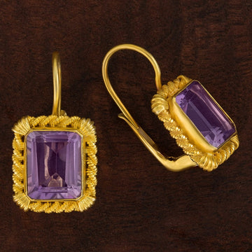 Tyrrhenian Amethyst Earrings