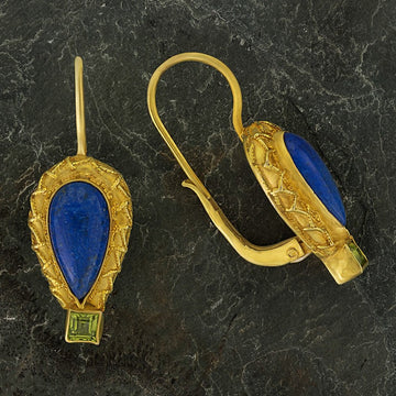 Penelope Pureheart Lapis and Peridot Earrings
