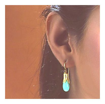 Jane Eyre's Turquoise Teardrop Earrings