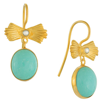 Turquoise Bow Earrings