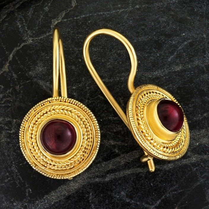 Athena Garnet Earrings