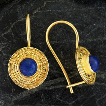 Athena Lapis Lazuli Earrings