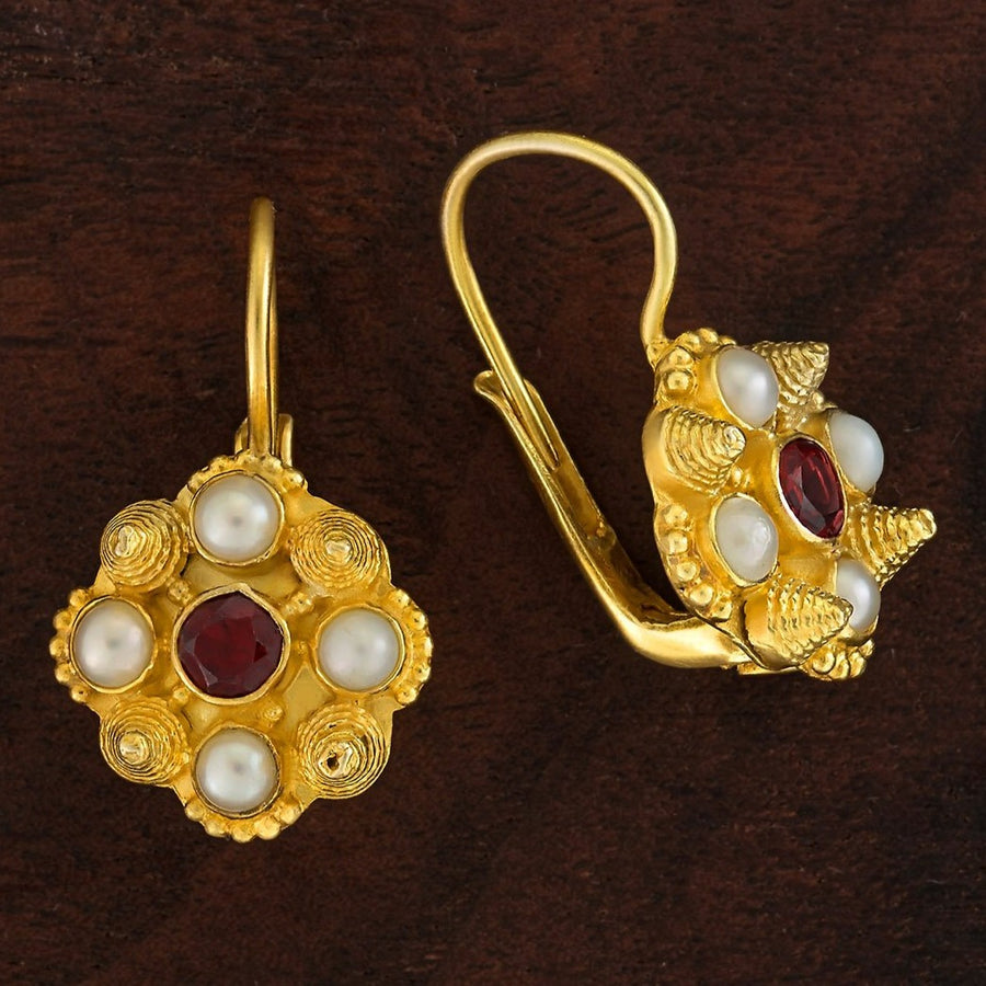 Ann Radcliffe Garnet Earrings