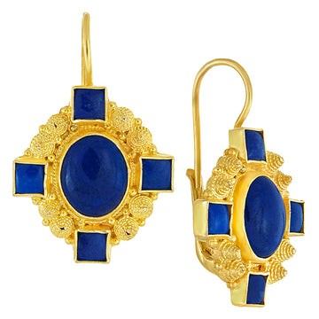 Queen Bess Lapis Lazuli Earrings