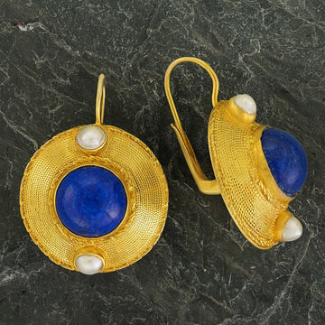 Regent's Park Lapis and Pearl Earrings