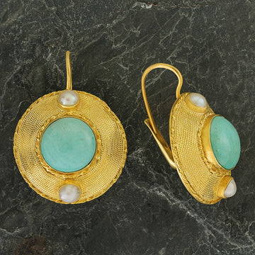 Regent's Park Turquoise and Pearl Earrings