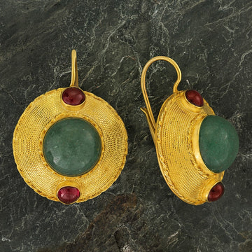 Regent's Park Aventurine and Garnet Earrings