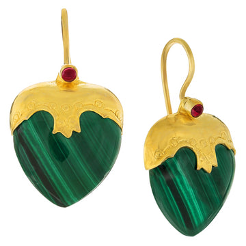 Little Nell Malachite Earrings