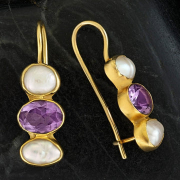 Passion And Patience Amethyst Earrings