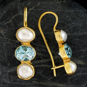 Passion And Patience Blue Topaz Earrings