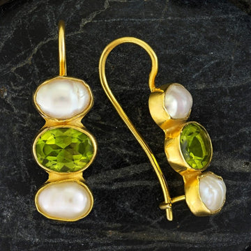 Passion And Patience Emerald Earrings