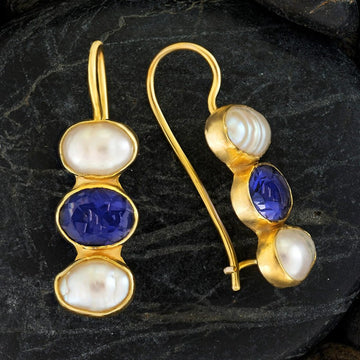Passion And Patience Iolite Earrings