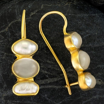 Passion And Patience Moonstone Earrings