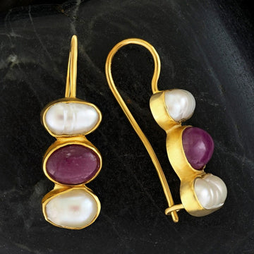Passion And Patience Ruby Earrings