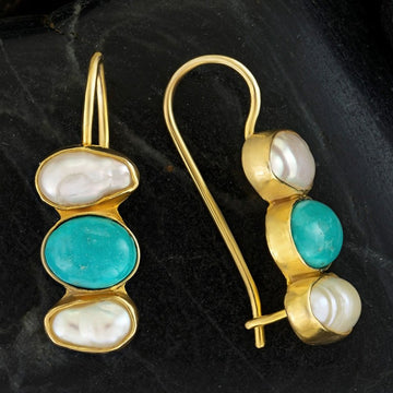 Passion And Patience Turquoise Earrings