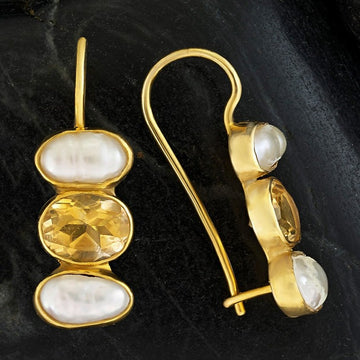 Passion And Patience Citrine Earrings