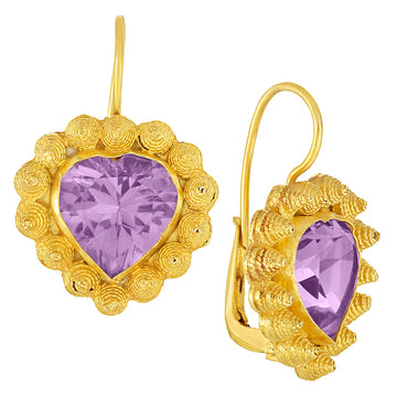 L'amour Amethyst Earrings