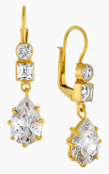 Duchess of Kent Cubic Zirconia Earrings