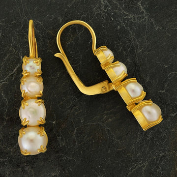 Christina Rossetti Pearl Earrings