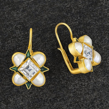 Ariel Cubic Zirconia and Pearl Earrings