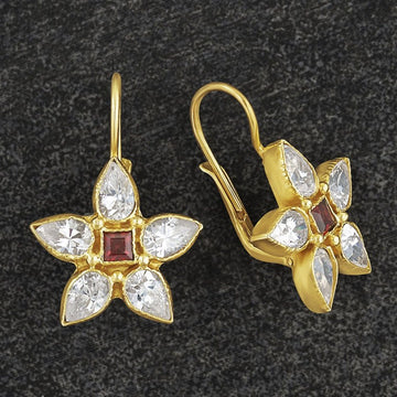 Anne of Gables Cubic Zirconia and Garnet Earrings