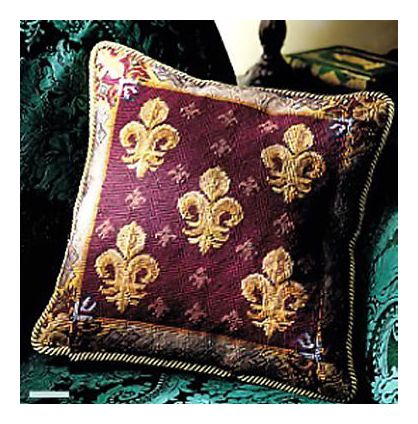 Pair Of Fleur-De-Lys Pillows
