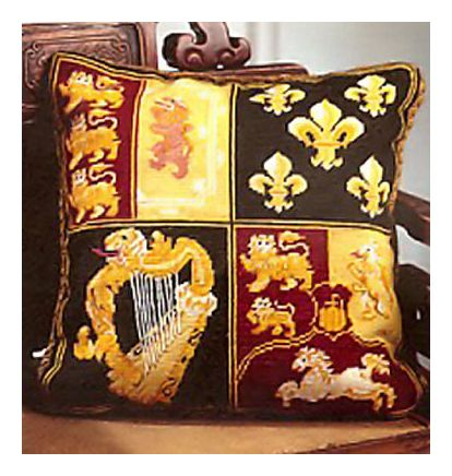 Coeur de Lion Needlepoint Pillow