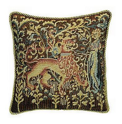 Lady in the Forest Tapestry Pillow