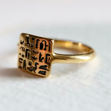 Ring of Royal Scribe Routy - Gold-Plated