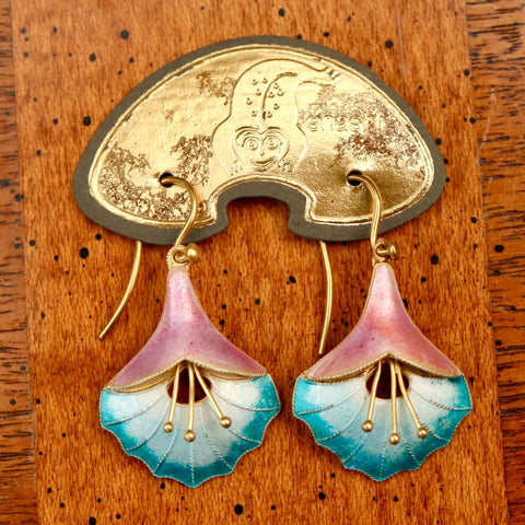 Vintage Shashi Angel's Trumpet Earrings