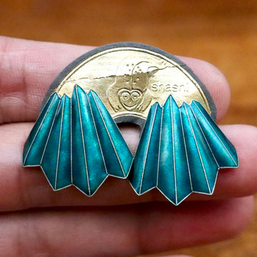 Vintage Shashi Teal Pencil Earrings