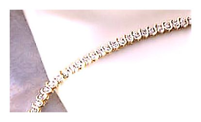 14k Queen Victoria Diamond Bracelet