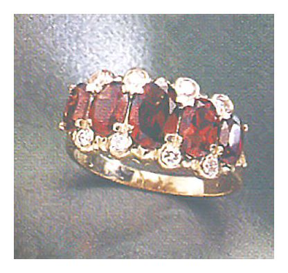 14k Westminster Garnet & Diamond Ring (.25ct)